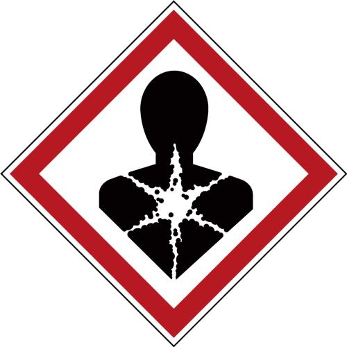 GHS Symbols on a Roll - Respiratory Hazard