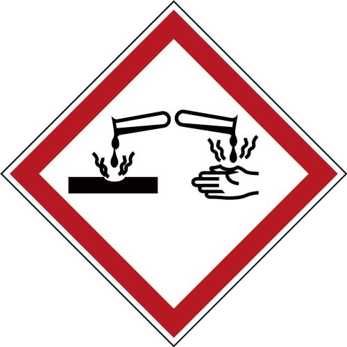 GHS Symbols on a Roll - Corrosive