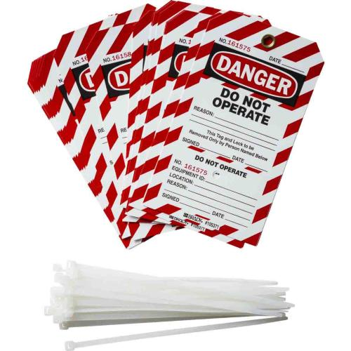 Two Part Perforated Tags - Do Not operate