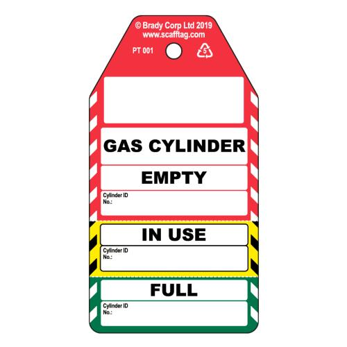 Gas Cylinder 3 Part Tag