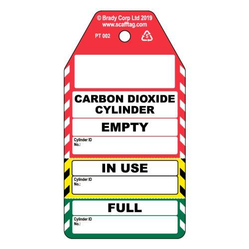 Carbon Dioxide Cylinder 3 Part Tag