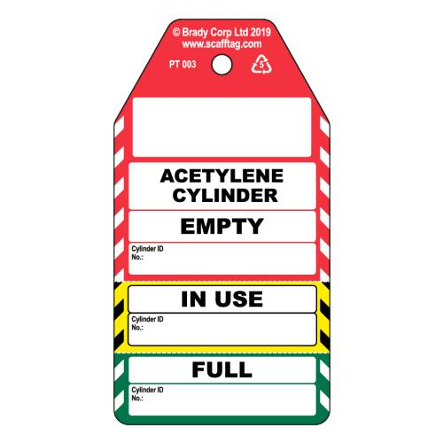 Acetylene Cylinder 3 Part Tag