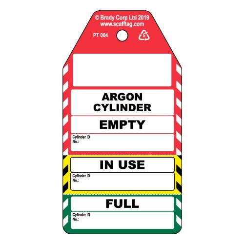 Argon Gas Cylinder 3 Part Tag