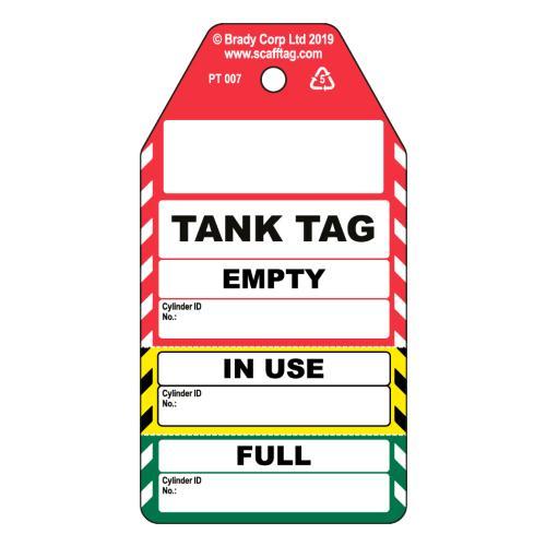 Tank Tag 3 Part Tag
