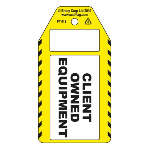 Client Owned Equipment Tags