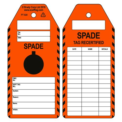 Spade Certified Tags