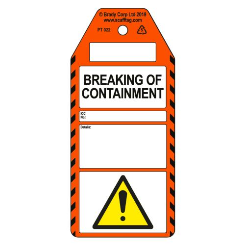 Breaking Of Containment Tag