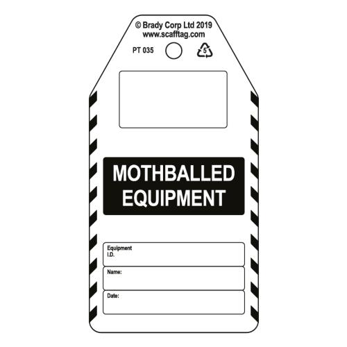 Mothballed Equipment Tags