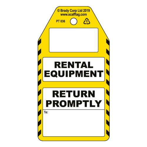 Rental Equipment - Return Promptly