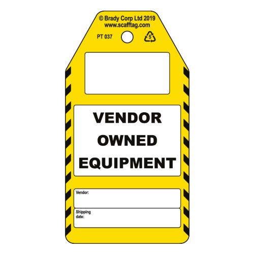 Vendor Owned Equipment Tag