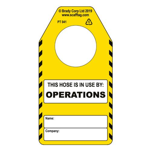 Hose - Operations Tag