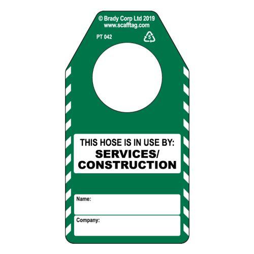 Hose - Construction/Services Tag