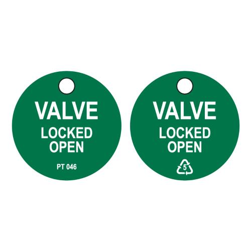 Valve Locked Open Tag