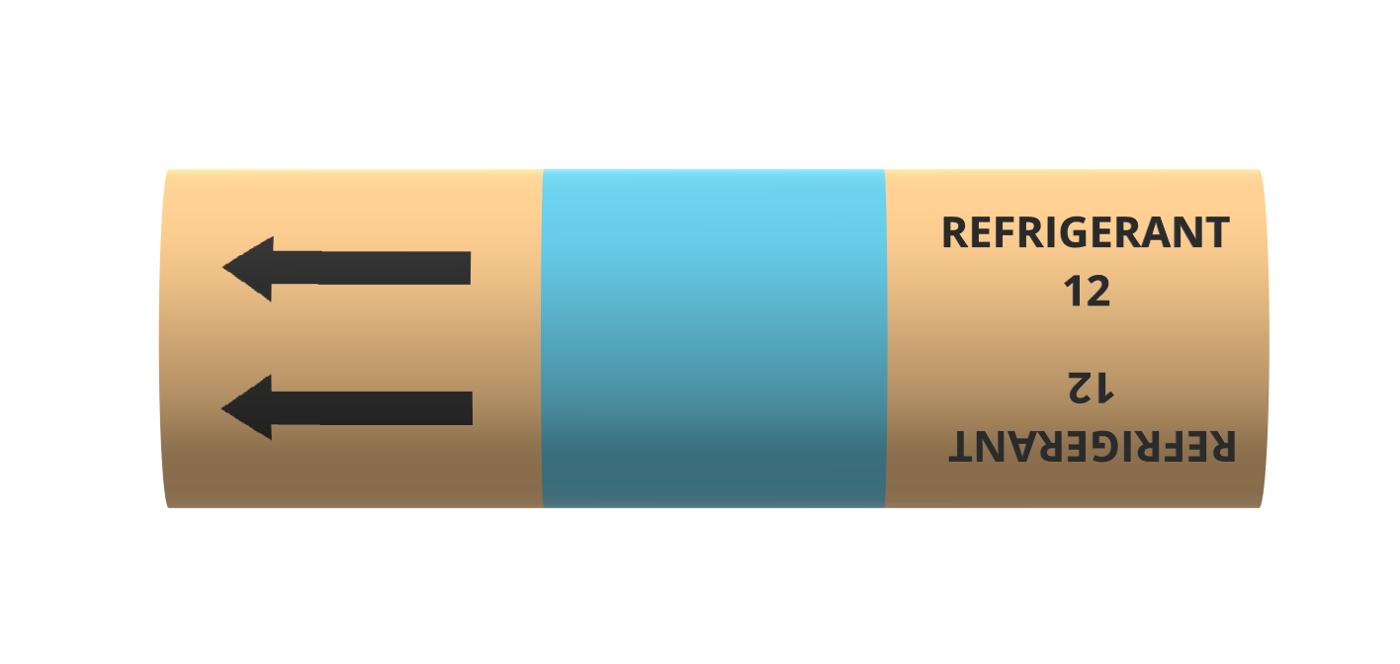 BS Pipe Marker - Refrigeration - Refrigerant 12