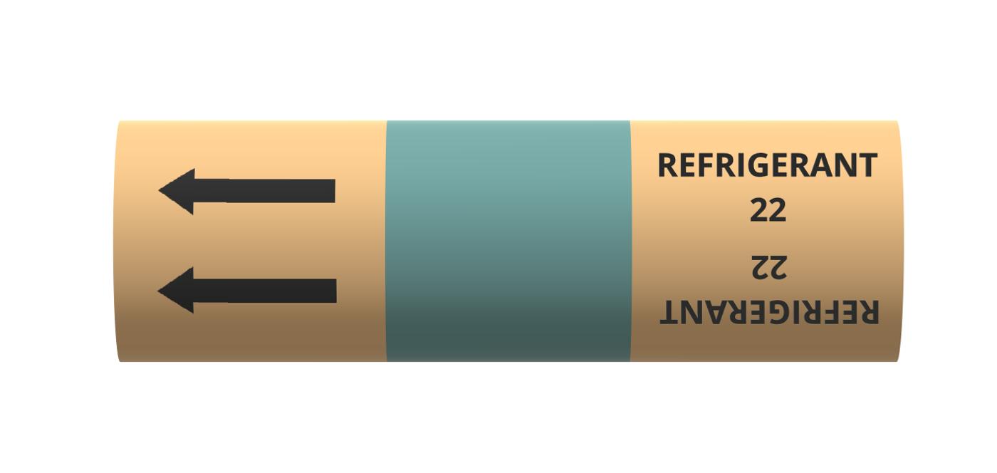 BS Pipe Marker -  Refrigerant - Refrigerant 22