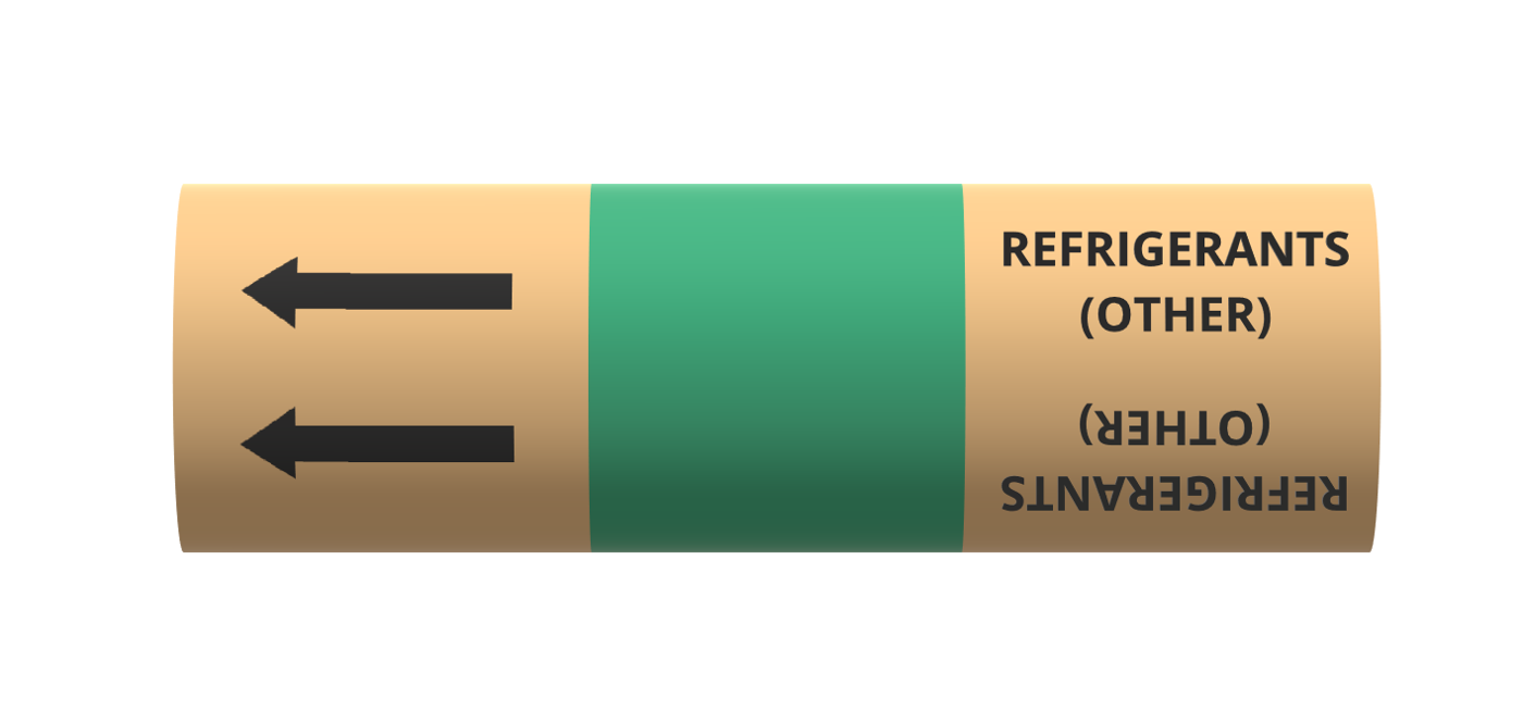 BS Pipe Marker - Refrigeration - Other Refrigerants