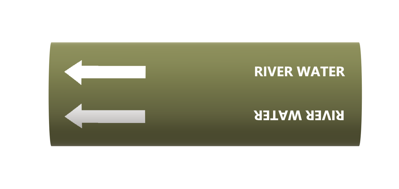 BS Pipe Marker - Water - River Water