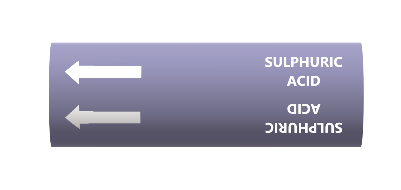 BS Pipe Marker - Acids & Alkalis - Sulphuric Acid