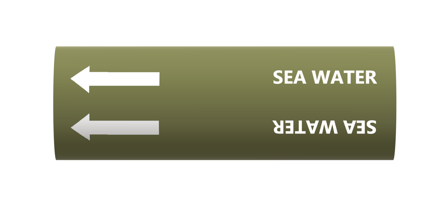 BS Pipe Marker - Water - Sea Water