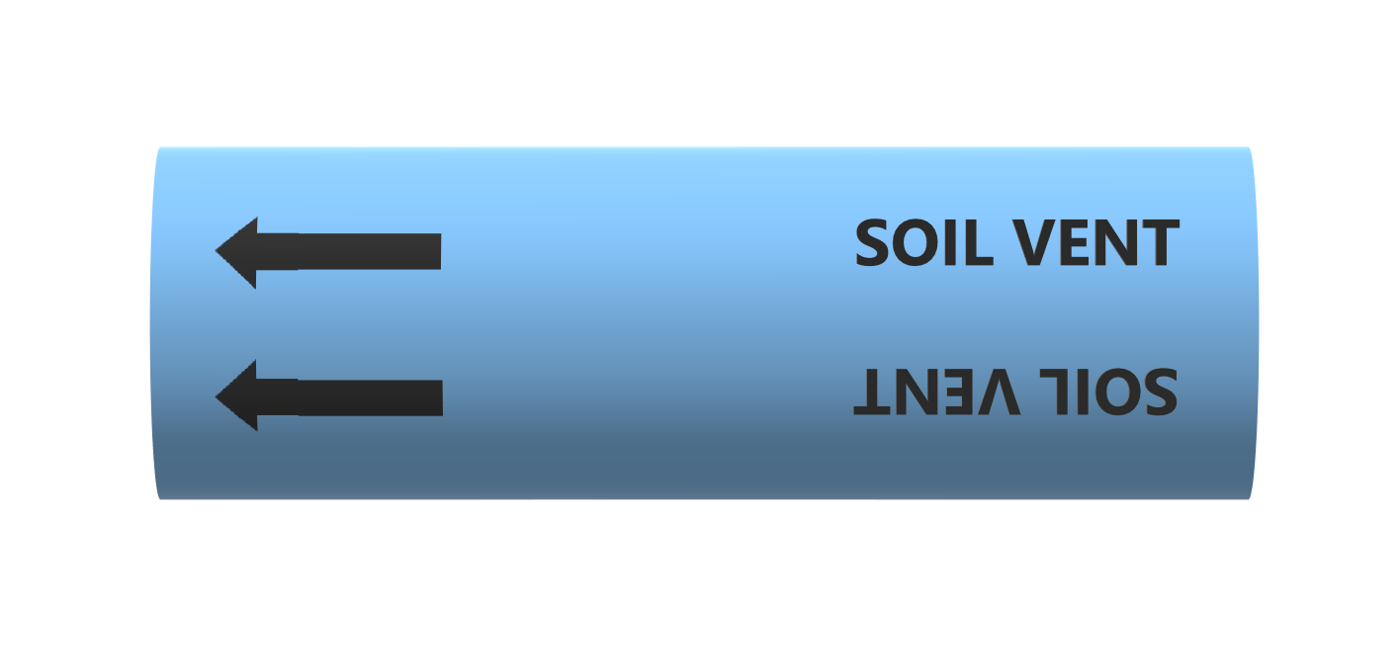 BS Pipe Marker - Air - Soil Vent