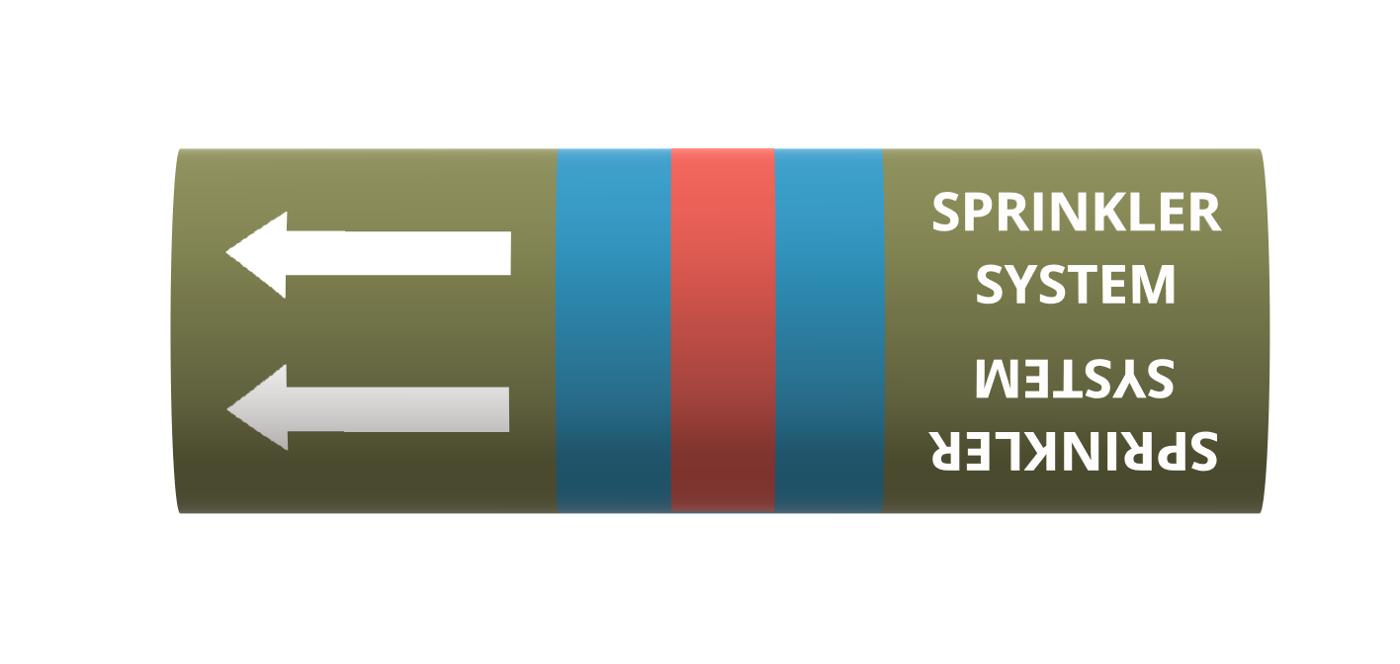 BS Pipe Marker - Water - Sprinkler System