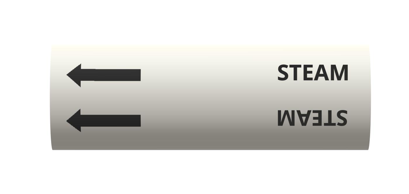 BS Pipe Marker - Air - Steam