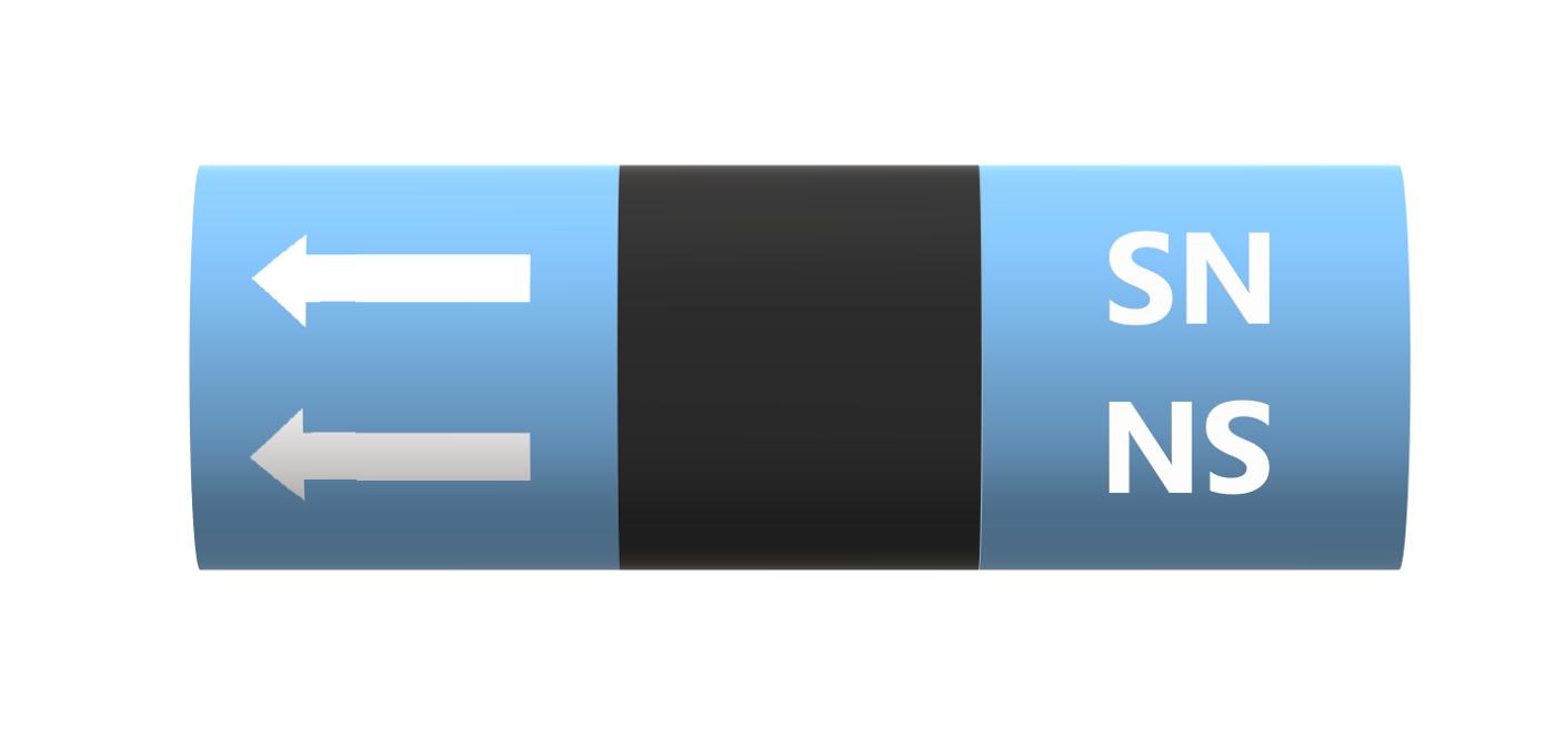 BS Pipe Marker - Medical - Surgical Nitrogen