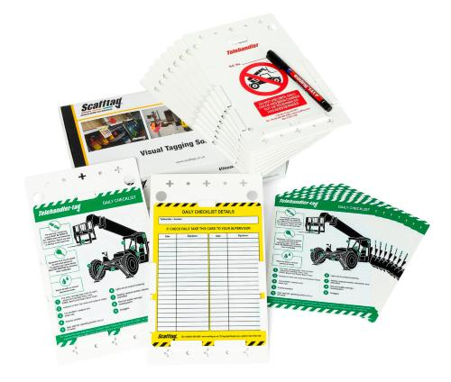 Telehandler Inspection Tag Kit