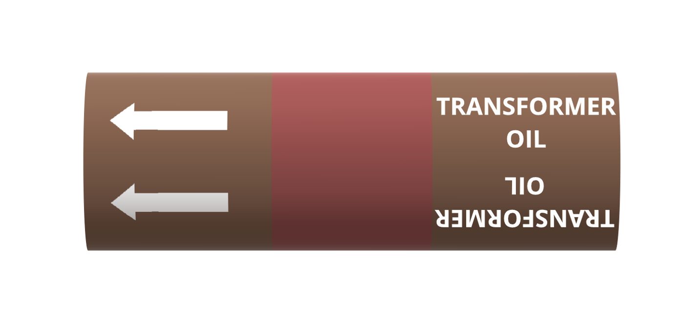BS Pipe Marker - Oil - Transformer Oil
