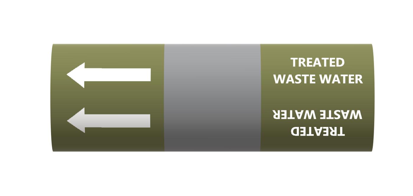 BS Pipe Marker - Water - Drinking Water alternative