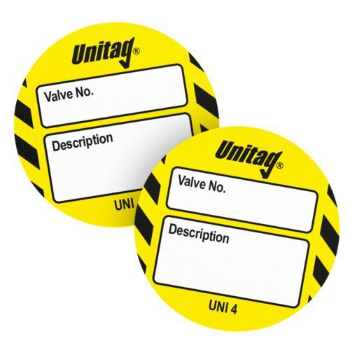 Unitag Valve Identification Inserts