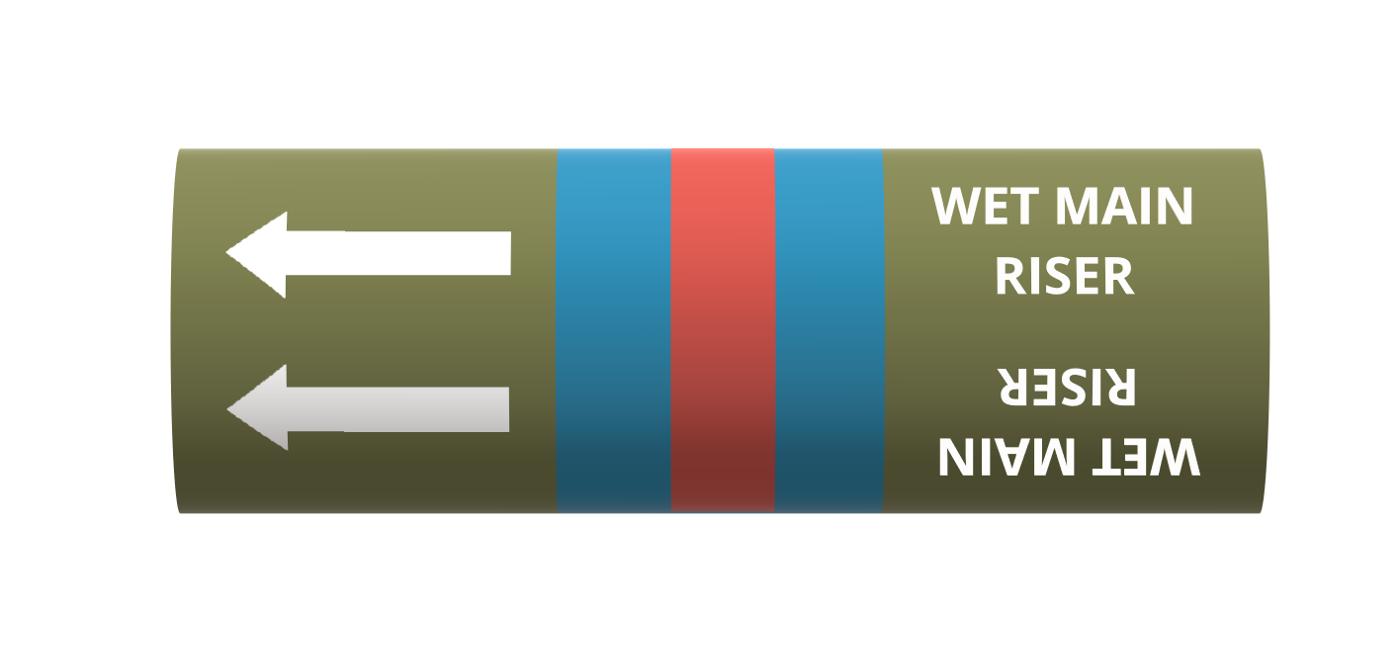 BS Pipe Marker - Water - Wet Main Riser
