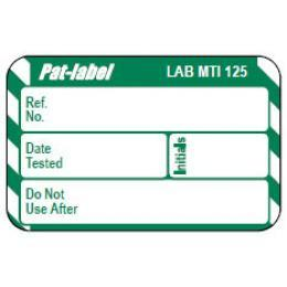 PAT Test Adhesive Label