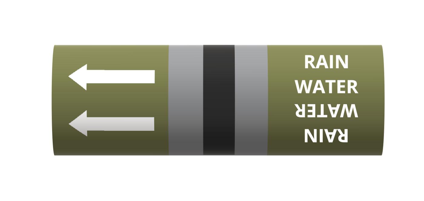 BS Pipe Marker - Water - Rain Water
