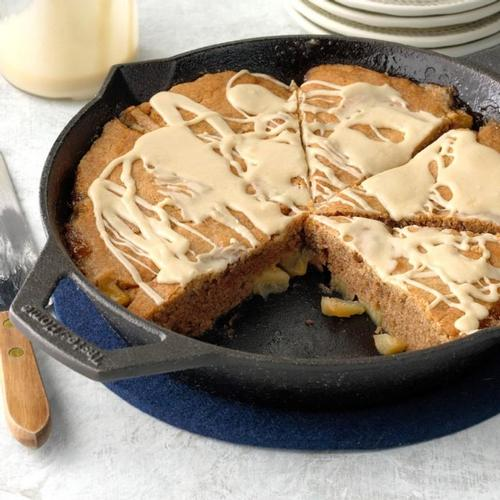 Finger licking Cast Iron Apple Nutmeg Coffee Cake  Cast iron apple nutmeg coffee cake the perfect dessert for you and the family, we do it the MF Product way!