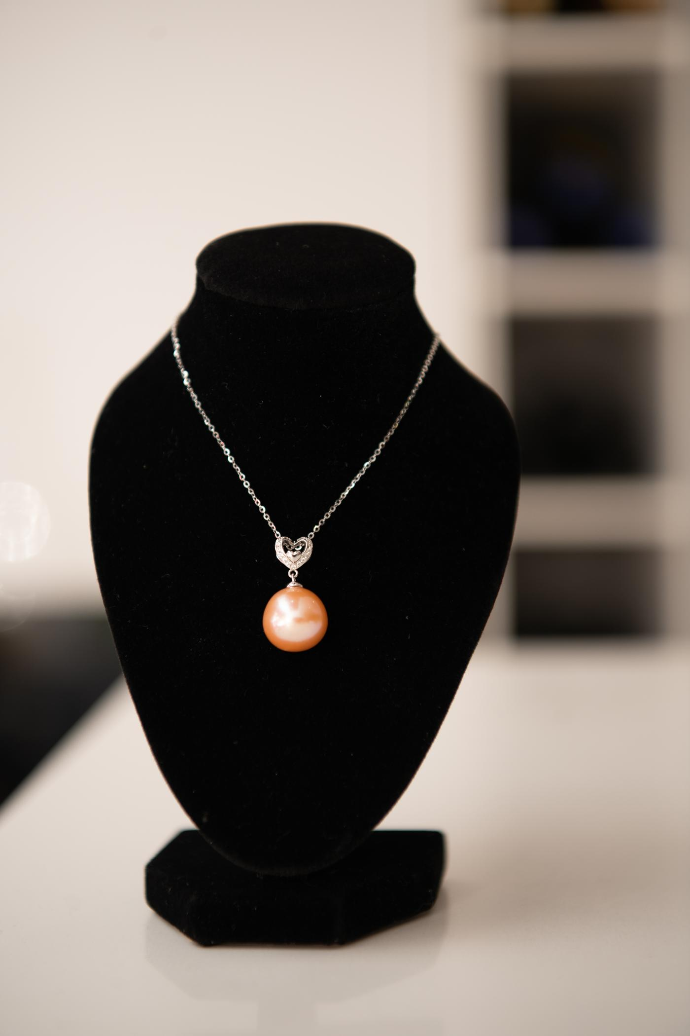 Heart Ivory Pearl Pendant