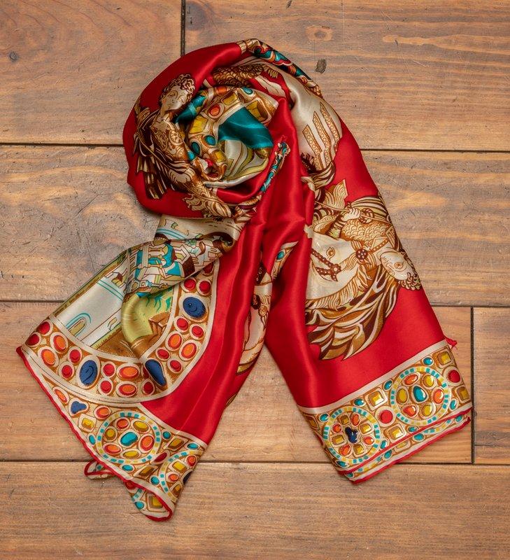 Ancient Greek Silk Scarf