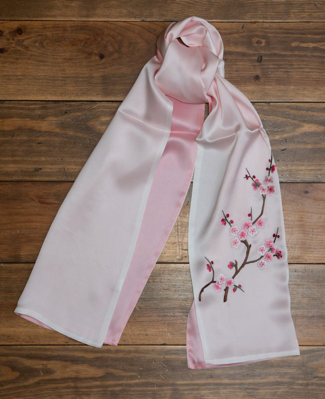 BlosomFlower Silk Handmade  Scarf