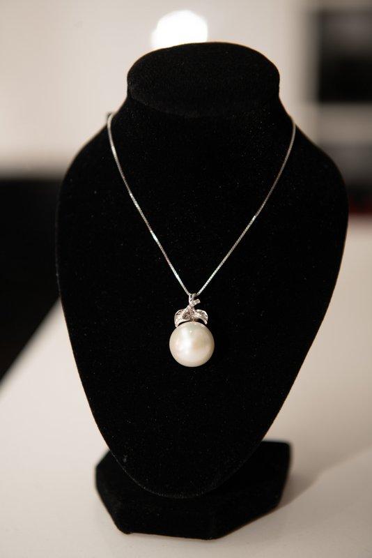 Leaf Pearl Pendant