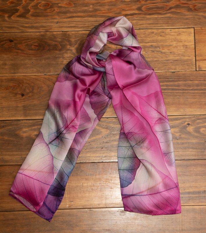 Leaf Prints  Silk scarf