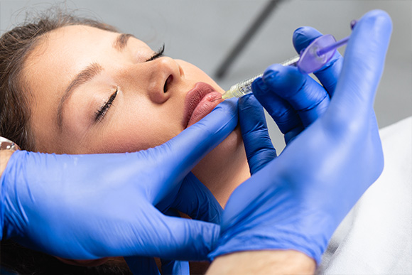Dermal Fillers Dermal filler treatment involves injecting a substance known as hyaluronic acid, which naturally occurs in the body, into the skin.