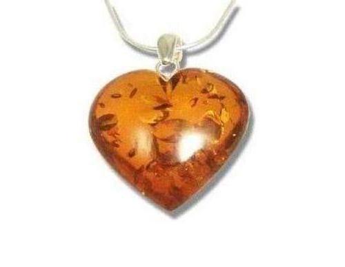 Cognac colour amber heart