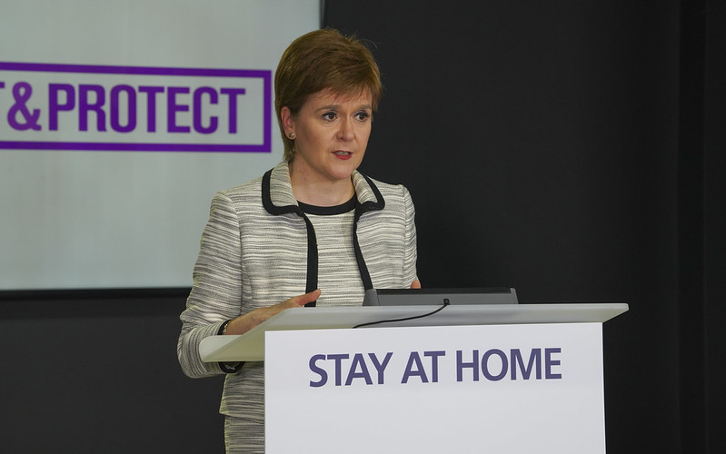 Social distancing gap in schools could be reduced if virus stays at low level Scotland's schools are due to re-open on August 11, but the strict restrictions on social distancing mean it will be near impossible in most buildings for all children to return at the same time.