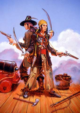 Mary Read and Anne Bonny - Female Pirates of the Caribbean Before the golden age of piracy ended in 1720, there was just enough time for these two murderous women to stalk the seas around the Caribbean