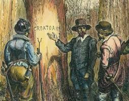 The Mysterious Lost Colony on Roanoke Island In August 1590, an Englishman staggered onto the shores of Roanoke Island to see what had become of the colony he had left behind. But anyone who had been there was long gone and had left no remains - except for a message carved into a piece of wood