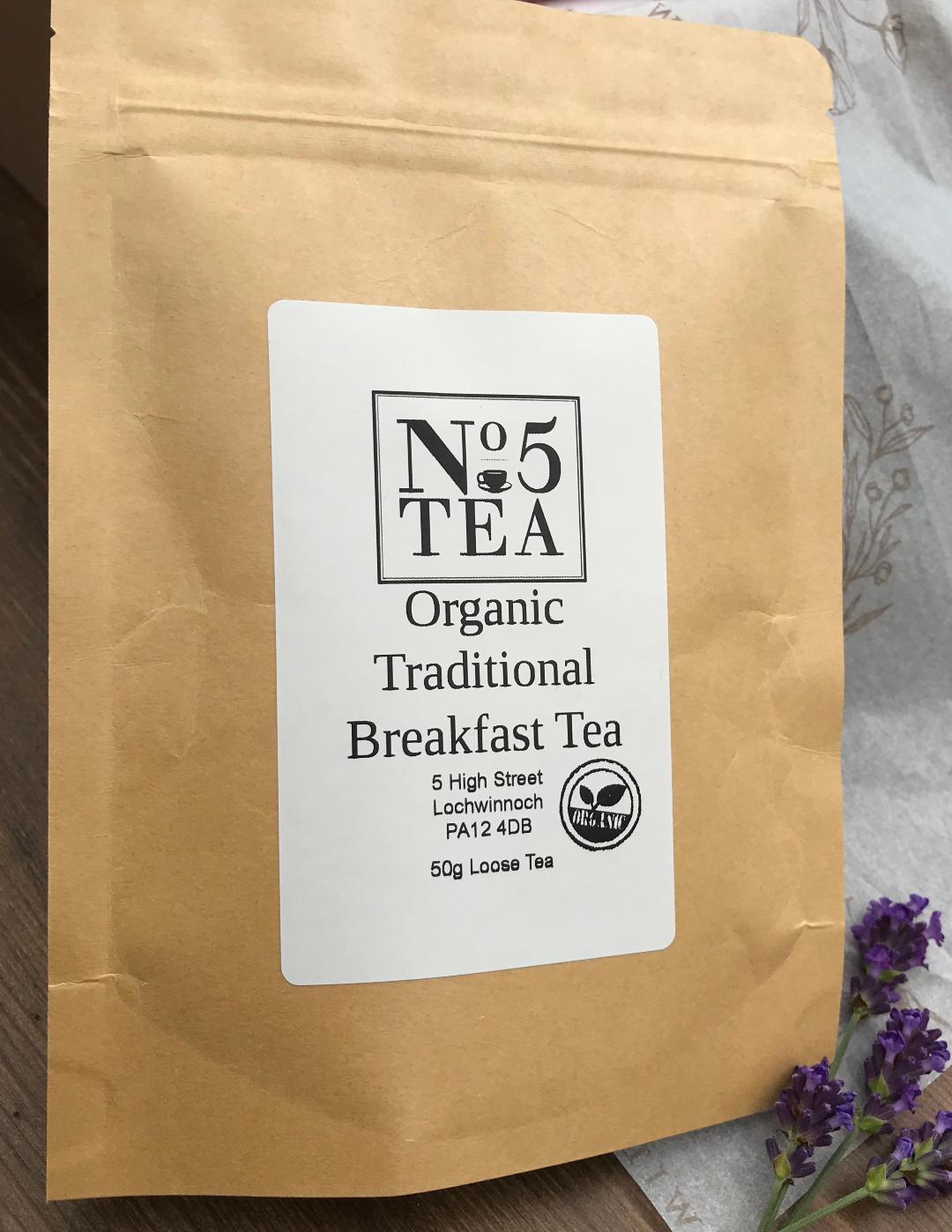 No. 5 Organic Traditional Breakfast Tea