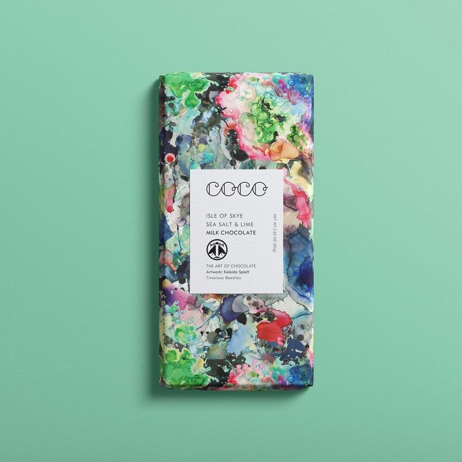 COCO Chocolatier - Sea Salt - Lime Milk Chocolate Bar
