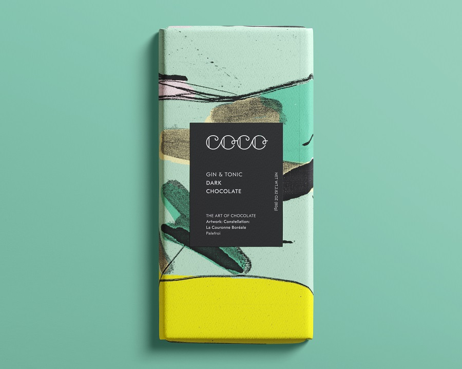 COCO Chocolatier - Gin - Tonic Dark Chocolate Bar
