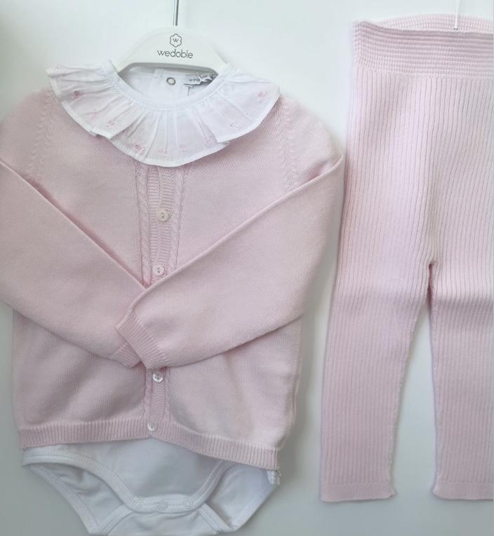 Wedoble SS21 Pink 3 Piece Legging Set