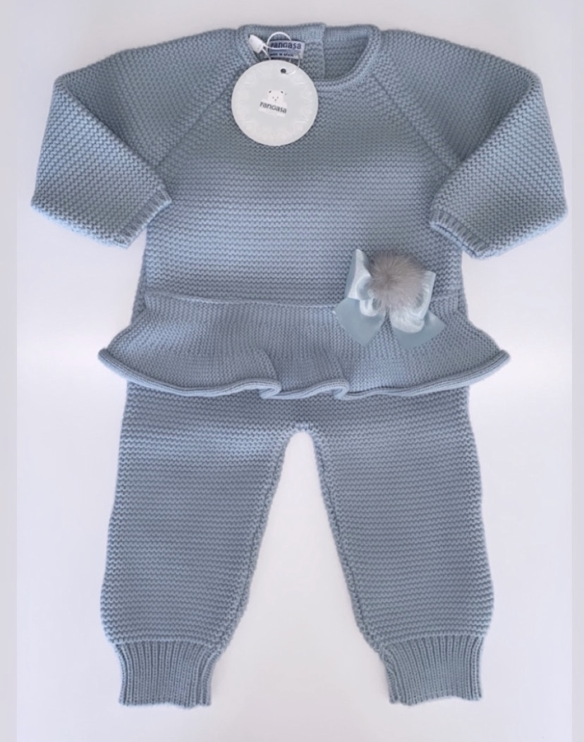 Pangasa Sky Blue Frilly Set